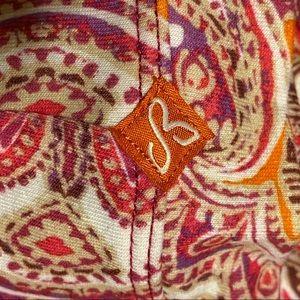 prAna Quinn dress size medium pink and orange